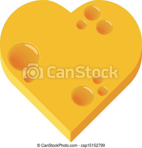 cheese heart - csp15152799
