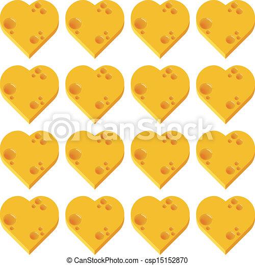 cheese heart seamless pattern - csp15152870