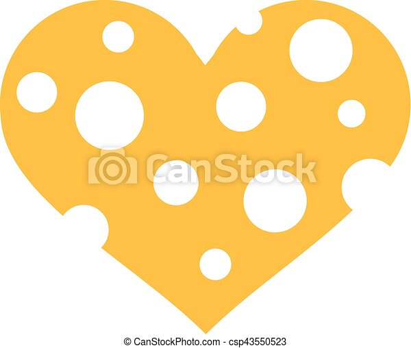 Cheese heart with wholes - csp43550523