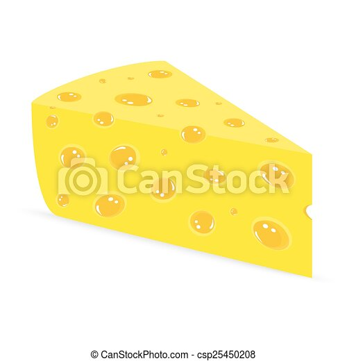 Cheese on a white background - csp25450208