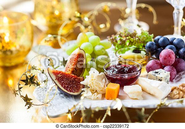 Christmas Cheese Platter.Cheese Platter