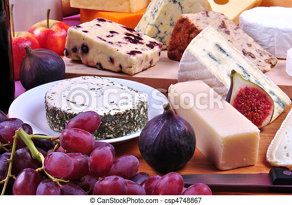 cheese platter with some organic fresh cheese - csp4748867