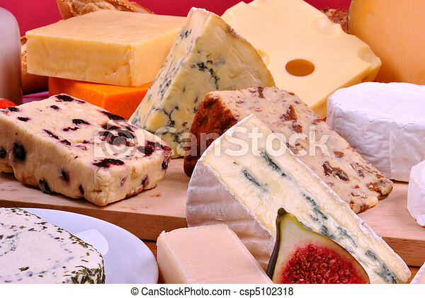 cheese platter with some organic fresh cheese - csp5102318