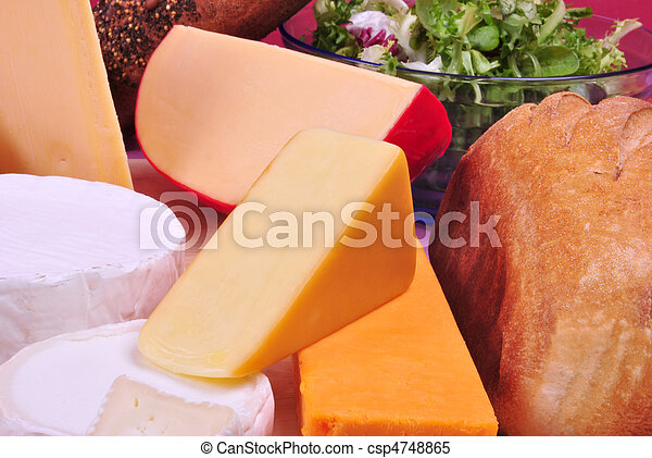 cheese platter with some organic fresh cheese - csp4748865