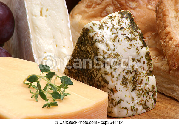 cheese platter with some organic fresh cheese - csp3644484
