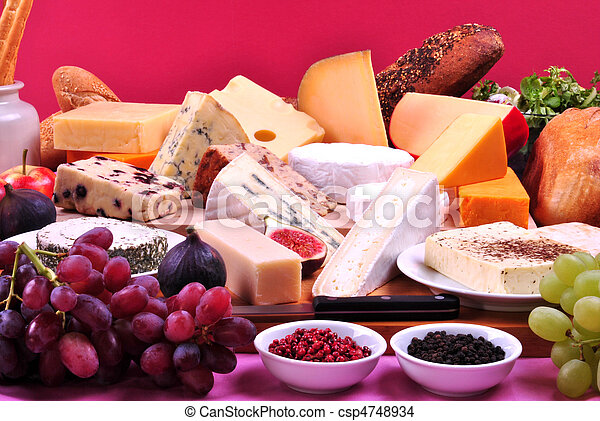 cheese platter with some organic fresh cheese - csp4748934