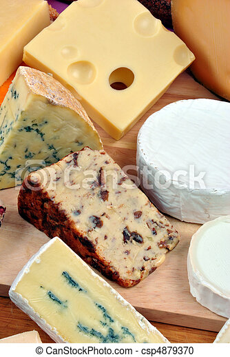 cheese platter with some organic fresh cheese - csp4879370