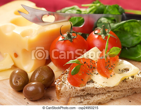 Cheese sandwich with tomato - csp24950215