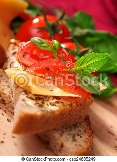 Cheese sandwich with tomato - csp24885249