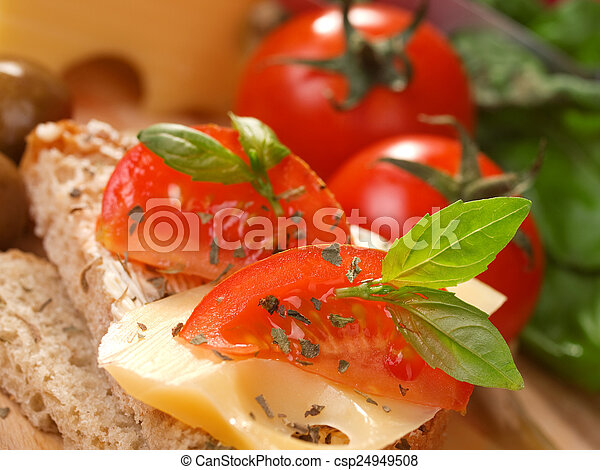 Cheese sandwich with tomato - csp24949508