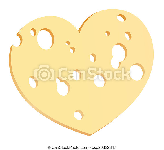 Cheese Slice Heart - csp20322347