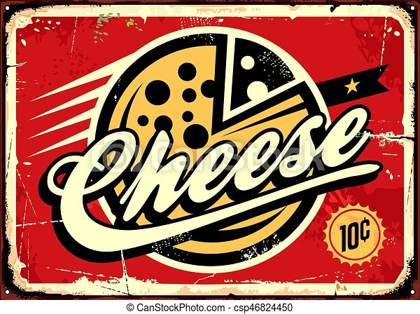 Cheese vintage sign - csp46824450