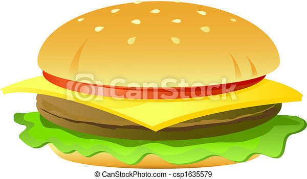cheeseburger isolated on white vector eps vectors search clip rh canstockphoto com cheeseburger clipart black and white cheeseburger clipart free