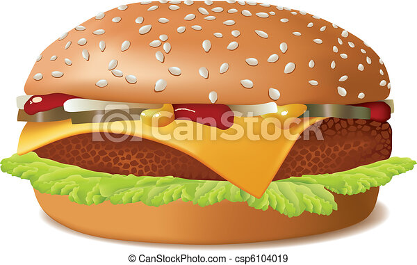 cheeseburger isolated on white fast food rh canstockphoto com cheeseburger clipart images free bacon cheeseburger clipart