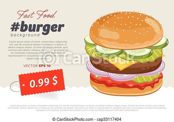 Cheeseburger Sale Banner Template Cheeseburger Banner Design
