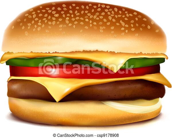 cheeseburger vector illustration rh canstockphoto com cheeseburger clipart free double cheeseburger clipart
