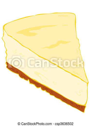 Cheesecake cake slice. - csp3636502