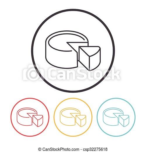 cheesecake line icon - csp32275618