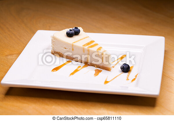 Cheesecake on a Plate - csp65811110