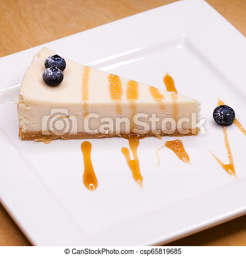 Cheesecake on a Plate - csp65819685