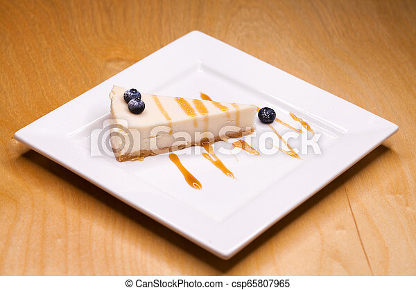 Cheesecake on a Plate - csp65807965