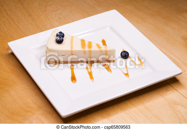 Cheesecake on a Plate - csp65809563