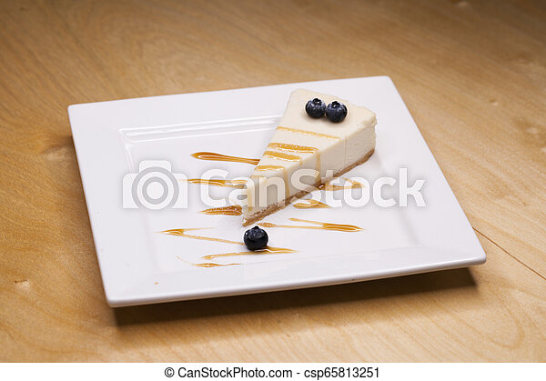 Cheesecake on a Plate - csp65813251