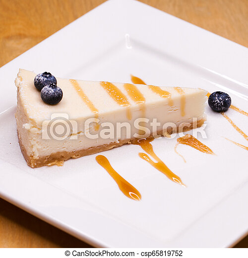 Cheesecake on a Plate - csp65819752