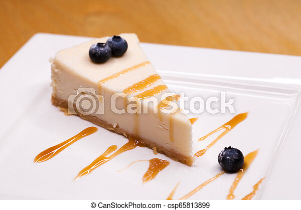 Cheesecake on a Plate - csp65813899