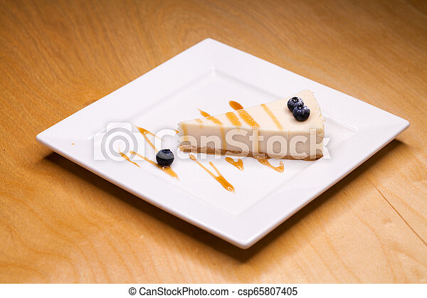 Cheesecake on a Plate - csp65807405