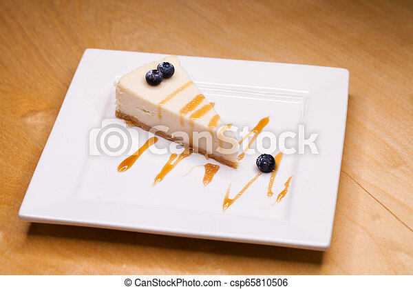 Cheesecake on a Plate - csp65810506