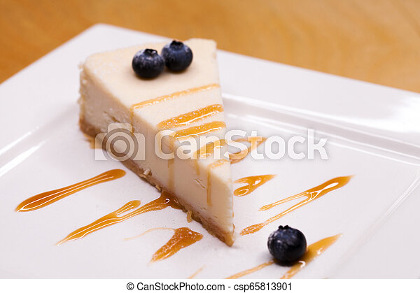 Cheesecake on a Plate - csp65813901