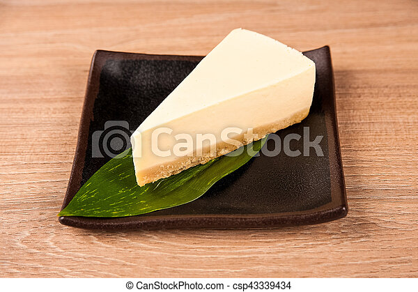 Cheesecake on a plate - csp43339434