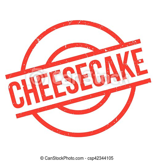 Cheesecake rubber stamp - csp42344105