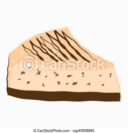 Cheesecake slice cartoon Icon. - csp45908865