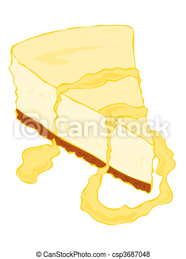 Cheesecake slice. - csp3687048