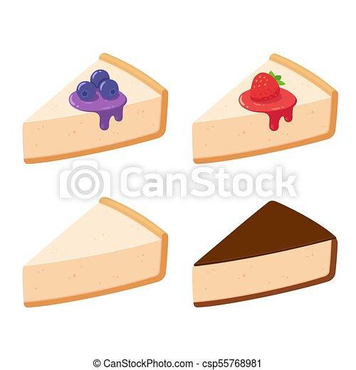 Cheesecake slices set - csp55768981