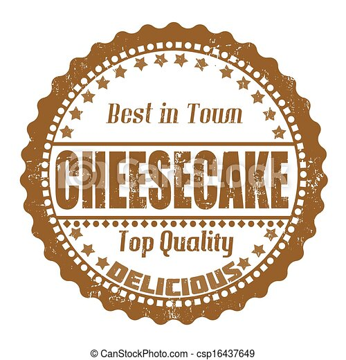 Cheesecake stamp - csp16437649