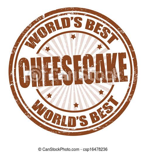 Cheesecake stamp - csp16478236