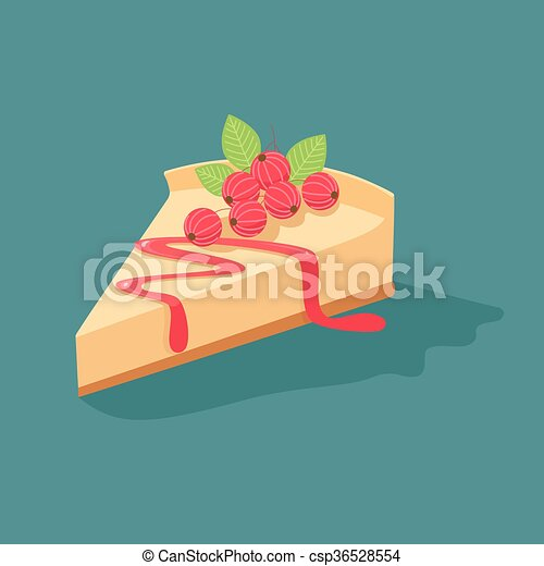 Cheesecake with currants - csp36528554