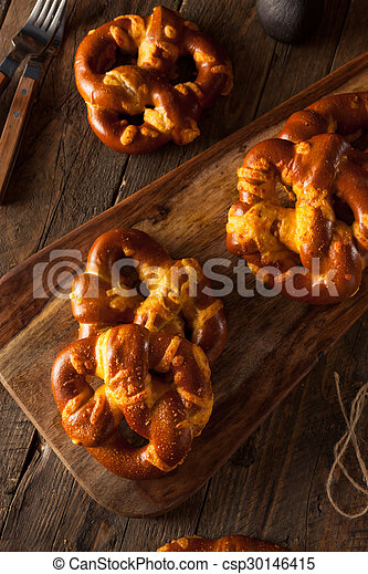 Cheesy German Soft Pretzels - csp30146415