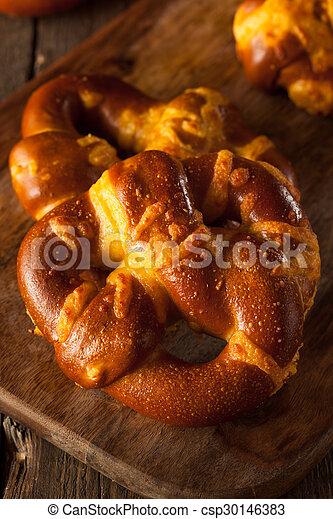 Cheesy German Soft Pretzels - csp30146383