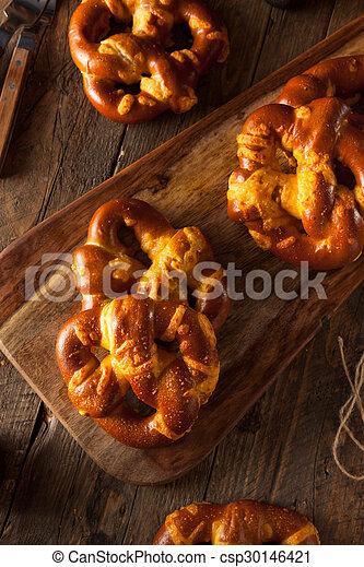 Cheesy German Soft Pretzels - csp30146421