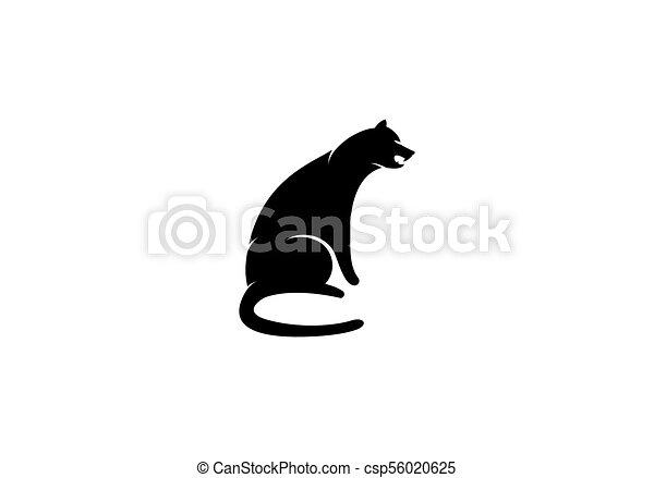 Cheetah logo template vector icon illustration design.