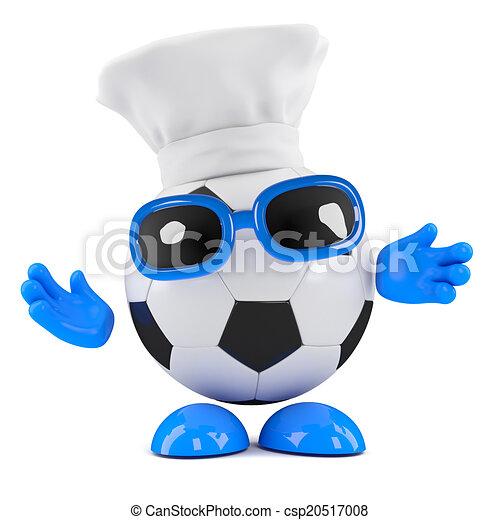 El tipo de fútbol 3D es un chef ahora - csp20517008