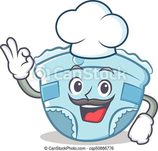 chef baby diaper character cartoon vector illustration vectors rh canstockphoto ie dirty diaper clipart free