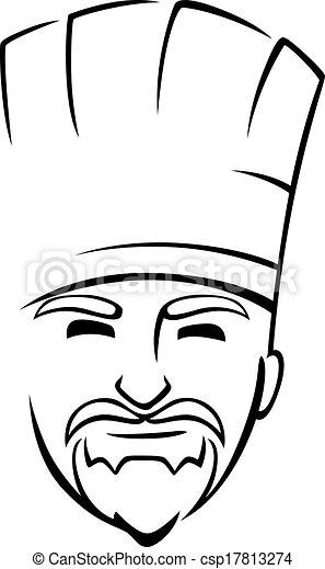 chef, barbudo, toque - csp17813274