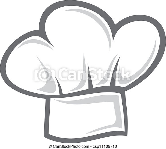 chef, cappello bianco - csp11109710
