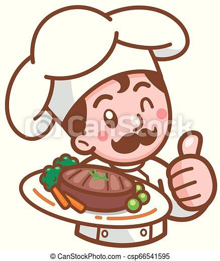 Chef de dibujos animados - csp66541595