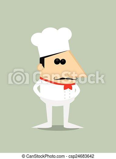 Chef de dibujos animados - csp24683642